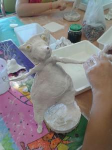 Ours en plâtre