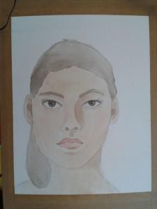 Auto portrait féminin