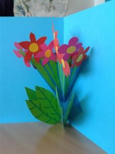 Carte Pop Up bouquet de fleurs