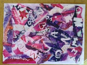 Composition rose et violette