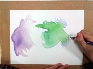 Atelier dessin avec les enfants à l'hôpital