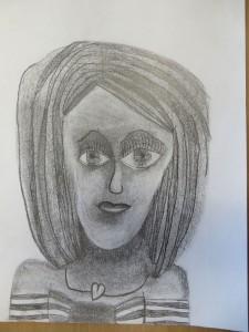 Dessin d'enfant au crayon