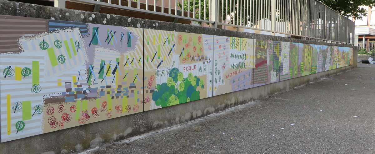 Fresque de la maternelle d'Ampuis
