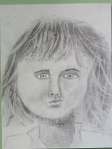 Autoportrait en noir et blanc