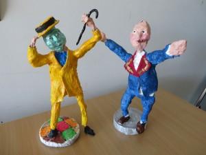 Figurines en plâtre