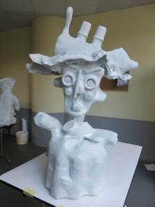 Sculptures pour le défilé de la biennale de la danse 2014