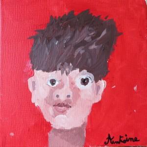 Portrait à la peinture acrylique