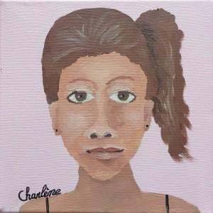 Autoportrait à la peinture acrylique