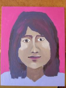 Portrait de jeune fille peint