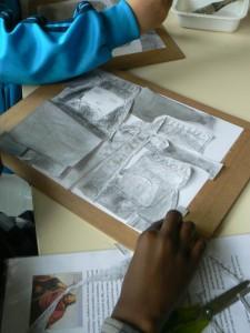 Composition des dessins de Clovis