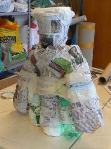 Forme en papier mâché
