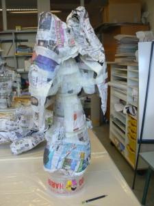 Forme générale en papier mâché