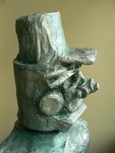 Sculpture de profil