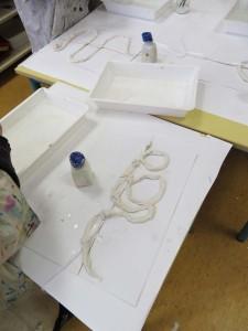 Sculptures en bandes plâtrées