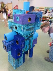 Sculpture tactile bleue