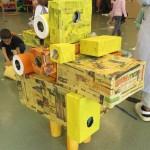 Sculpture tactile jaune