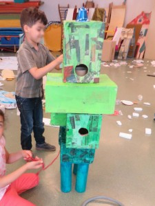 Sculpture tactile verte