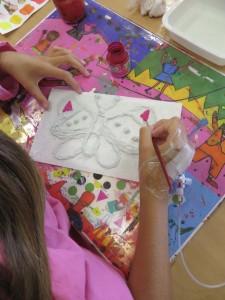 Peinture du papillon