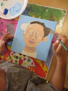 Peinture du visage et de la chevelure