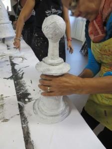 Peinture du pions blanc