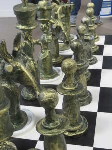 Pièces d'échec imitation bronze
