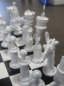 Pièces d'échec blanches