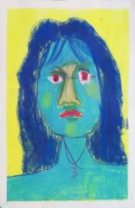 Auto portrait bleu