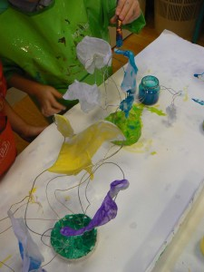 Sculptures et peinture