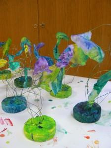 Sculptures de couleurs froides