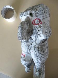 Sculptutre de tête en papier mâché