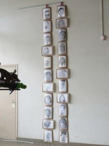 Exposition des portraits à l'espace Baudelaire à Rillieux