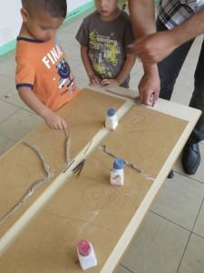 Recouvrir son tracé de colombins d'argile