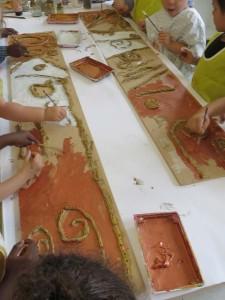 Peinture des interstices couleur cuivre