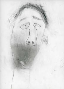 Dessin d'enfant au crayon à papier