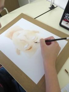 Peindre son sisage à l'aquarelle