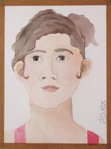 Autoportrait de jeune fille