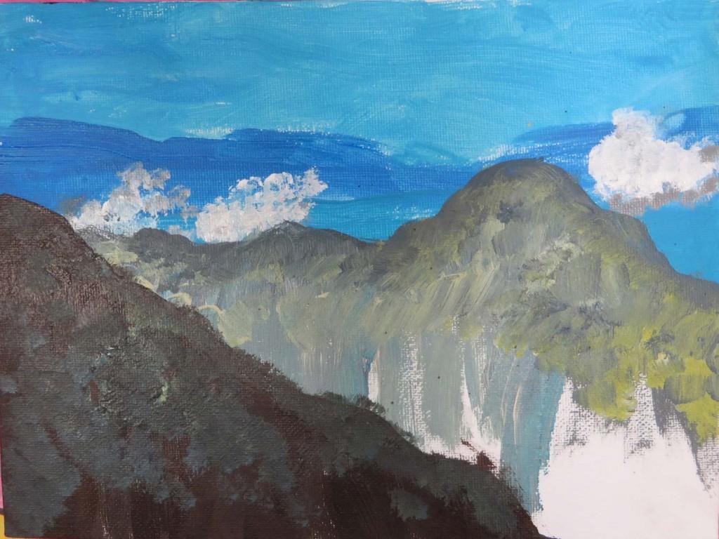 Le paysage de montagne de Manon