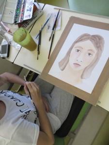 Atelier aquarelle à l'hôpital
