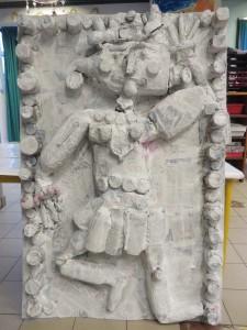 Sculpture peinte en blanc