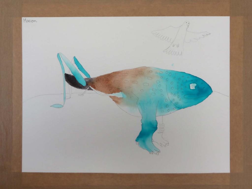 Mise en couleur de l'animal à l'encre Colorex