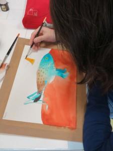 Peinture de l'oiseau