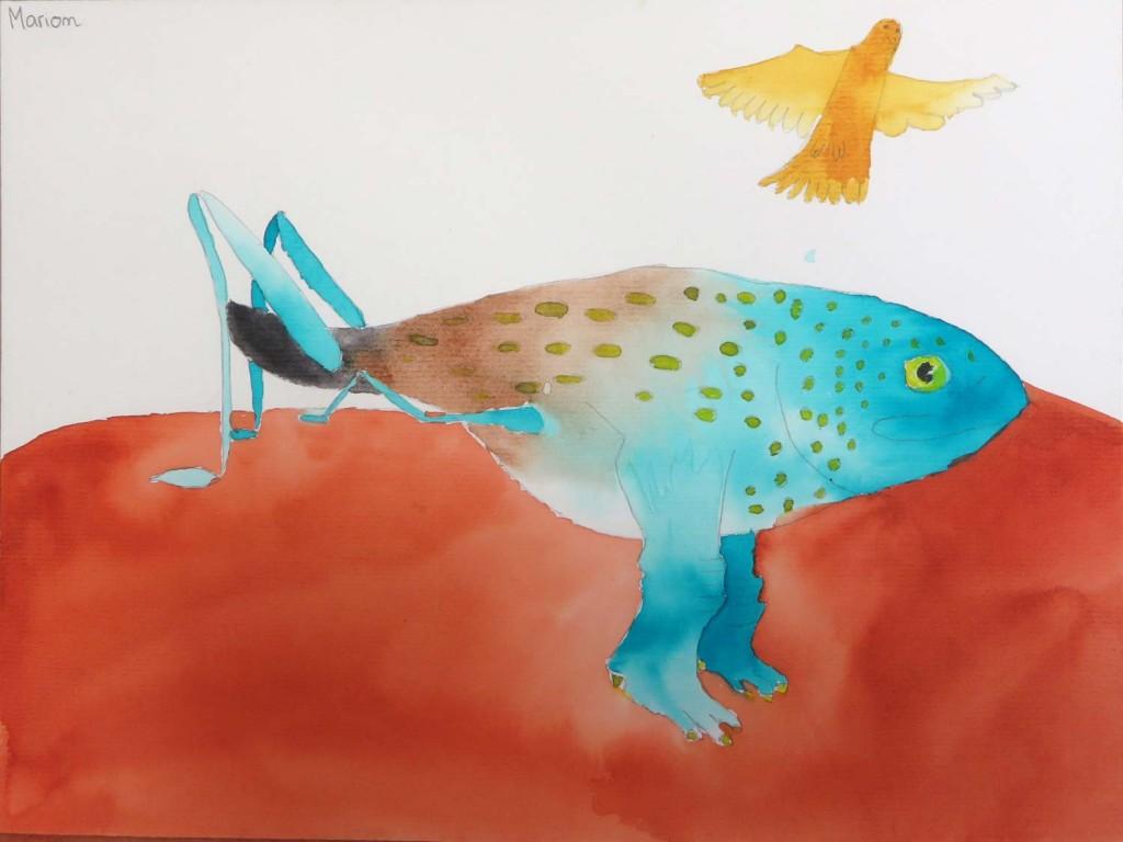 Le poisson sauterellle de Manon