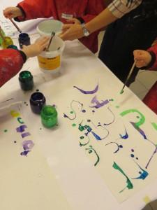 Calligraphie en couleur
