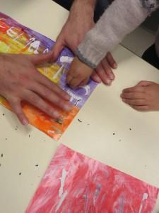 Atelier artistique en maternelle