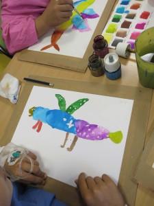 Atelier artistique à l'hôpital