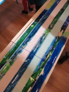 Bnades bleues et vertes
