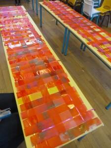 Panneaux tissés oranges
