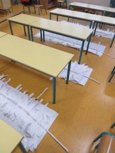 Séchage des plumes en papier