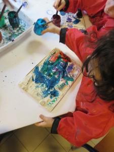 Peindre son bas-relief en plâtre
