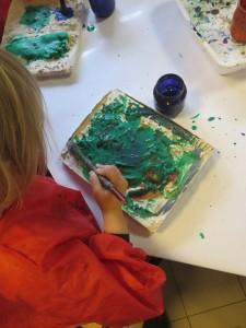 Couvrir tout le plâtre de couleur